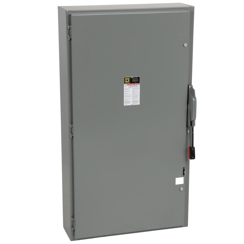 Square-D H366N 600 VAC 600 Amp 3-Pole Class H/J/K/L/R Fusible Heavy Duty Safety Switch