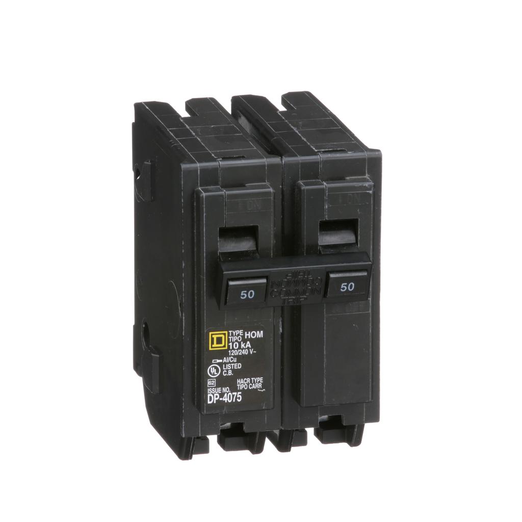 Square D HOM250 120/240 Volt 50 Amp Miniature Circuit Breaker