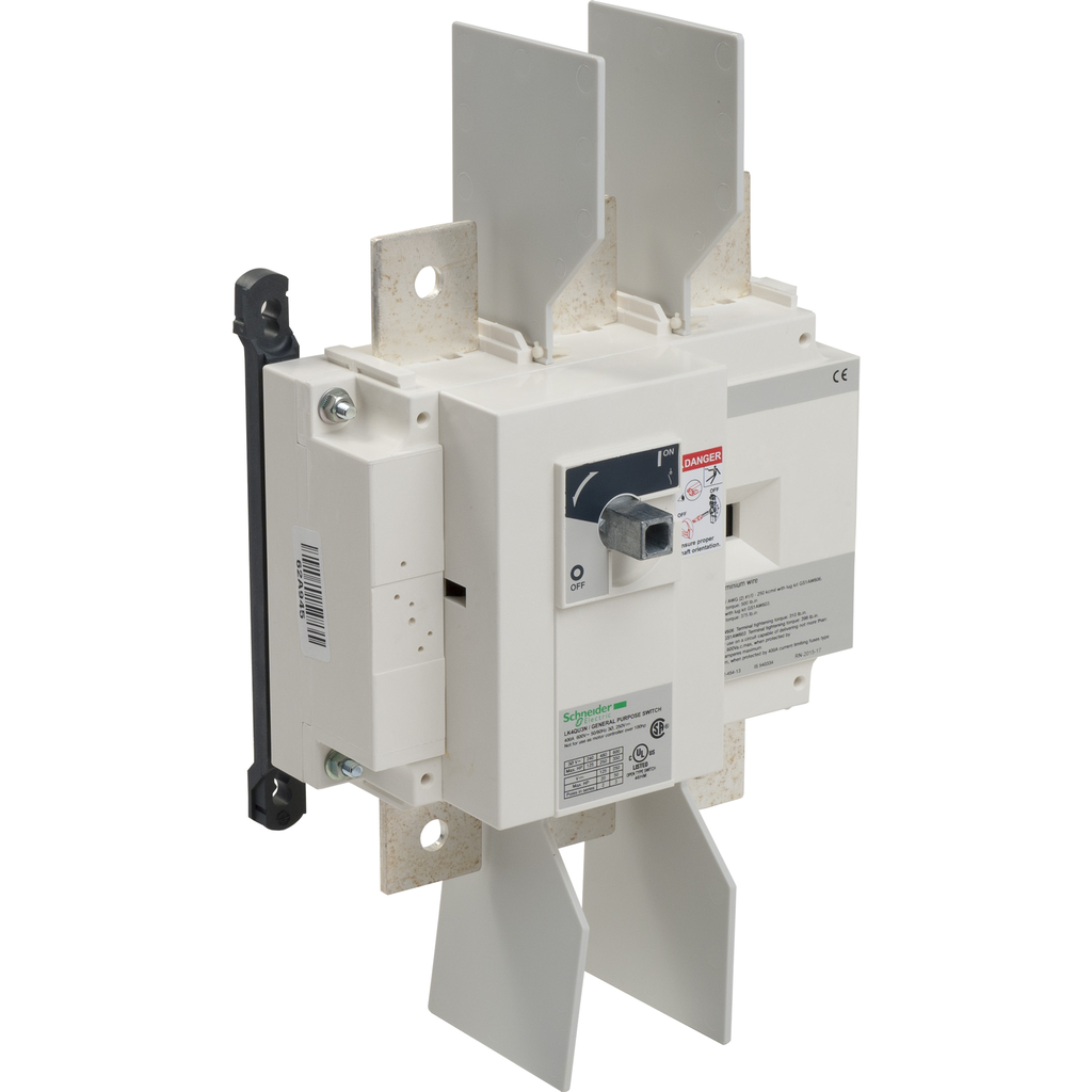 Mayer-Disconnect Switch, TeSys LK, nonfusible, 400A, 600 V, HP rated, 3 pole, rotary handle, up to 200kA SCCR-1