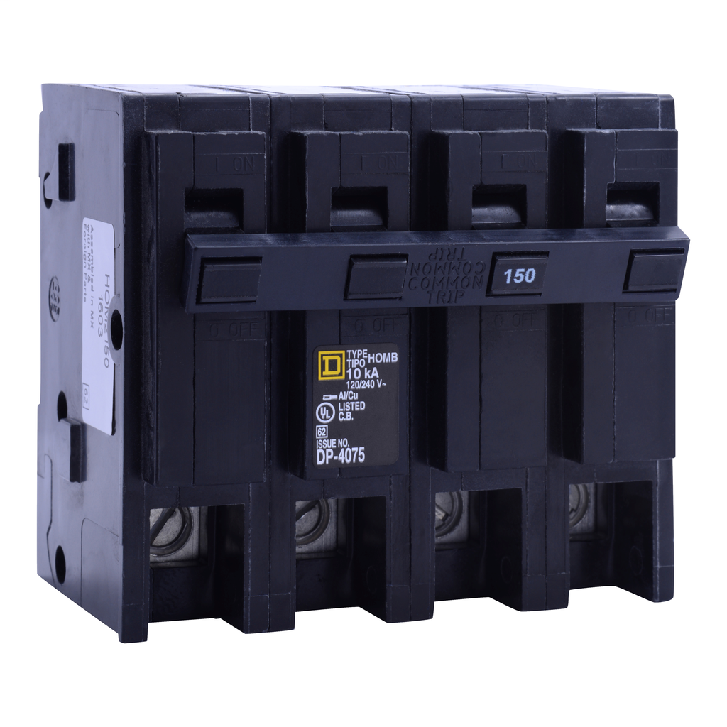 Square D HOM2175BB 2-Pole 175 Amp 120/240 Volt Plug-On Thermal Magnetic Miniature Circuit Breaker