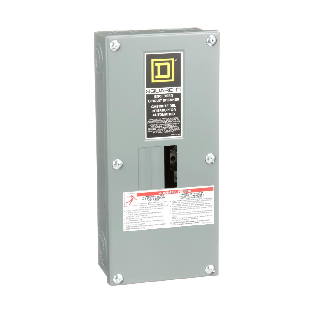 Square D QO3100BNS 100 Amp 5.88 x 3.38 x 13.12 Inch Steel NEMA 1 Surface Mount Circuit Breaker Enclosure