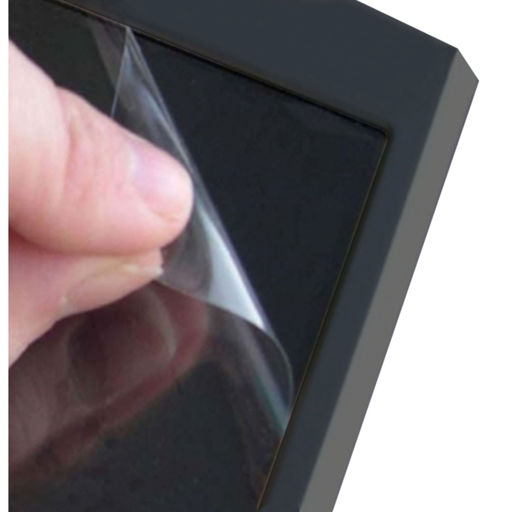 Disposable, dirt-resistant sheet for the display