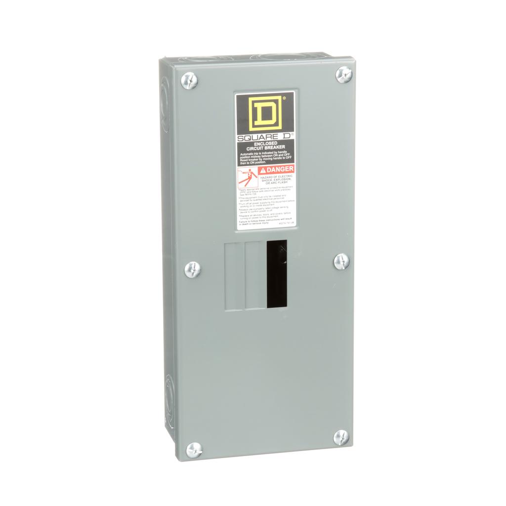 Square D QO2100BNS 100 Amp 5.88 x 3.38 x 13.12 Inch Steel NEMA 1 Surface Mount Circuit Breaker Enclosure