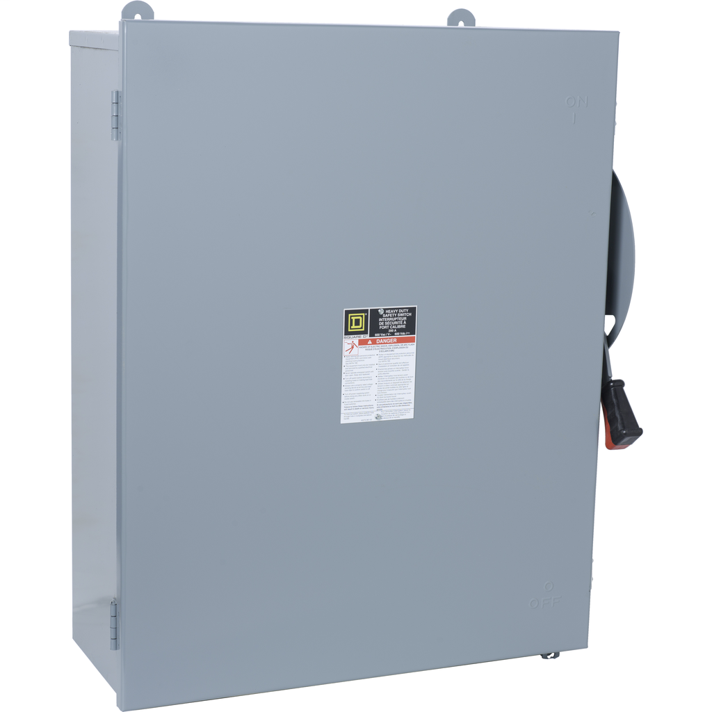 Square D HU464AWK 600 VAC 200 Amp 4-Pole Non-Fusible Heavy Duty Safety Switch