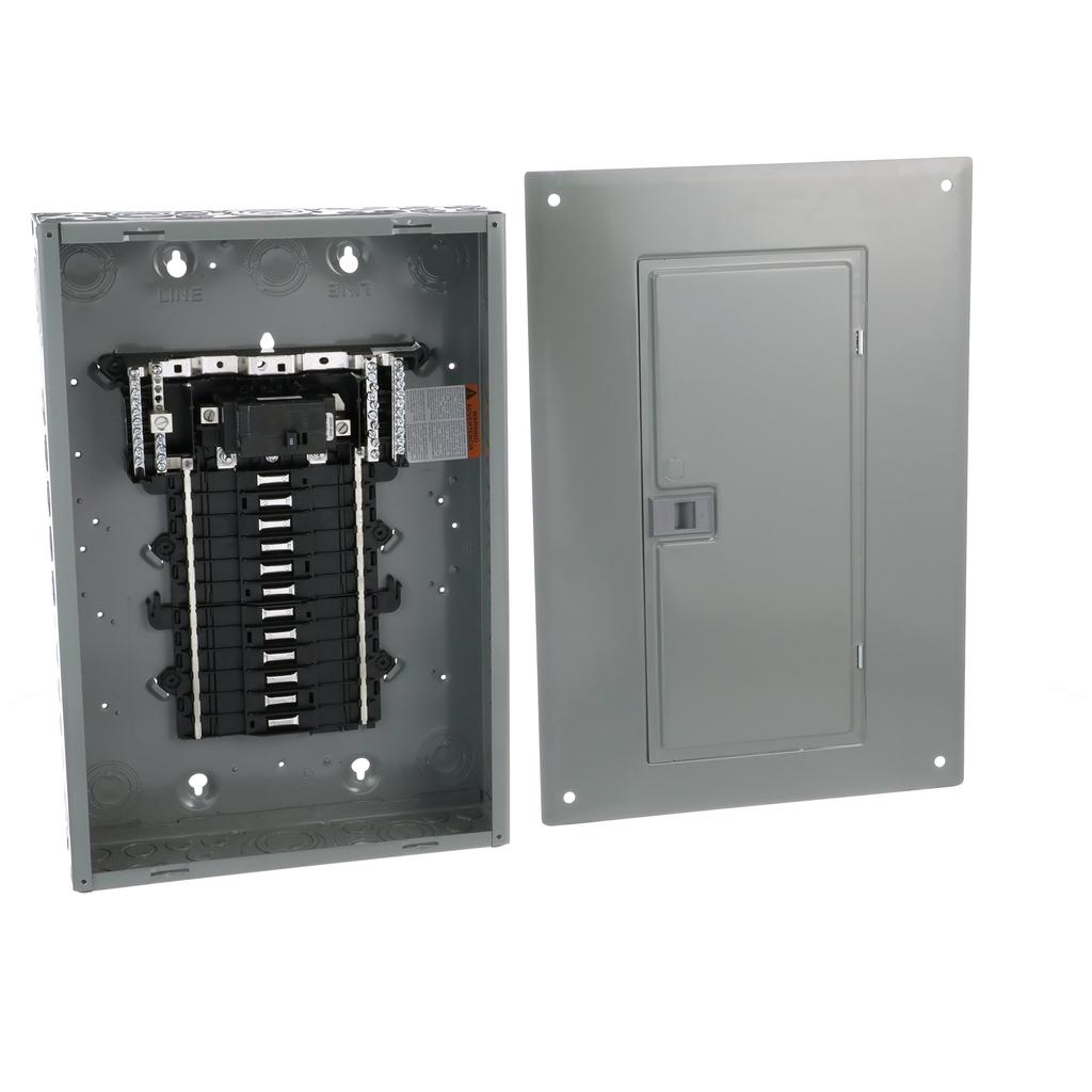 Square D QO124M100PC 100 Amp 1-Phase 3-Wire 24-Circuit NEMA 1 Main Breaker Load Center