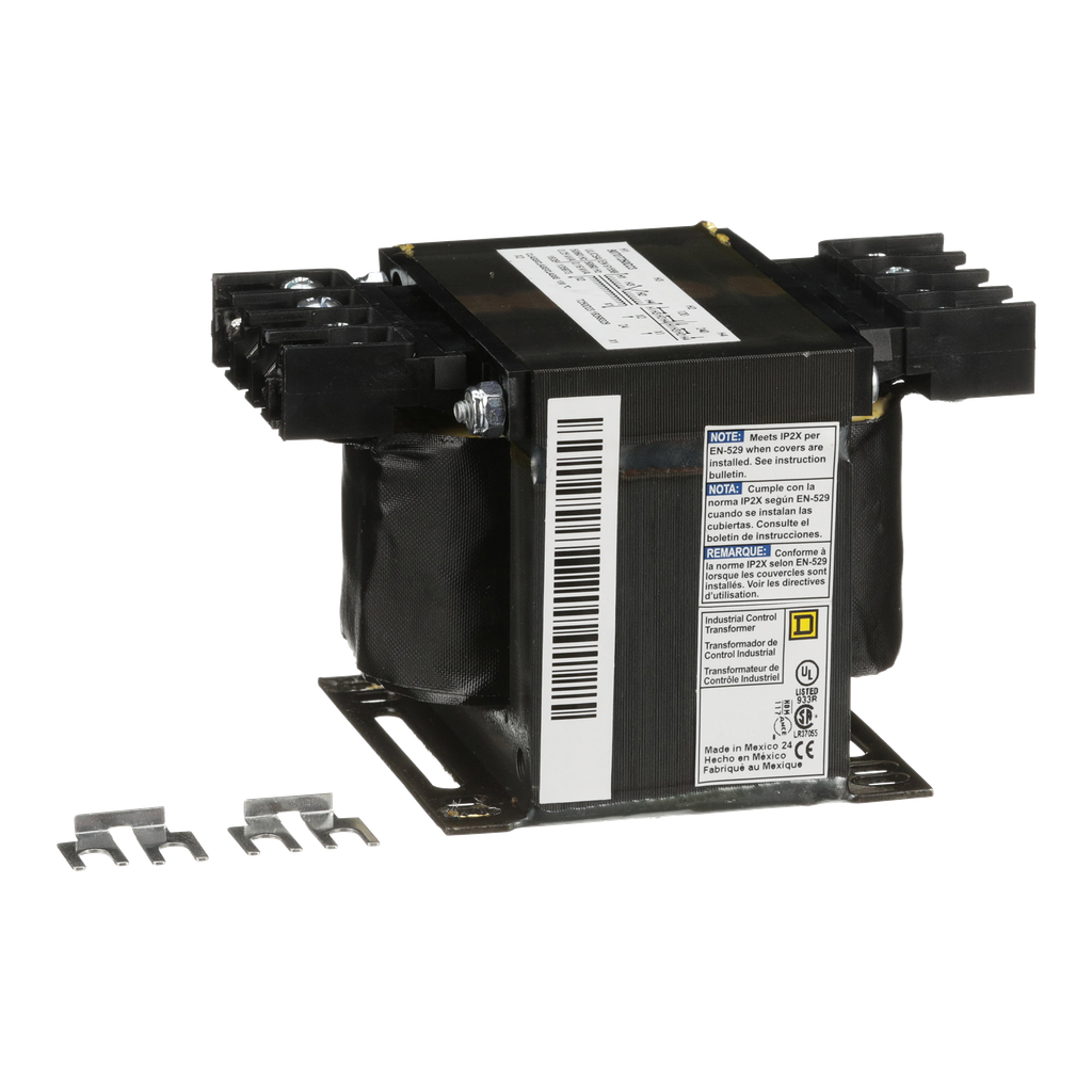 Square D 9070T250D23 250 VA 120 x 240 VAC Primary 24 VAC Secondary 1-Phase Control Transformer