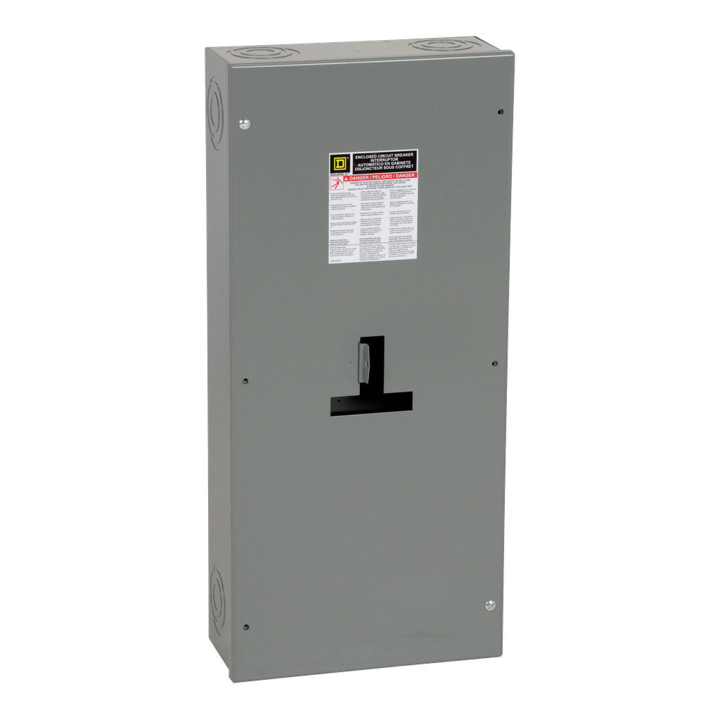 Square D J250S 14.36 x 6 x 31.36 Inch NEMA 1 Circuit Breaker Enclosure
