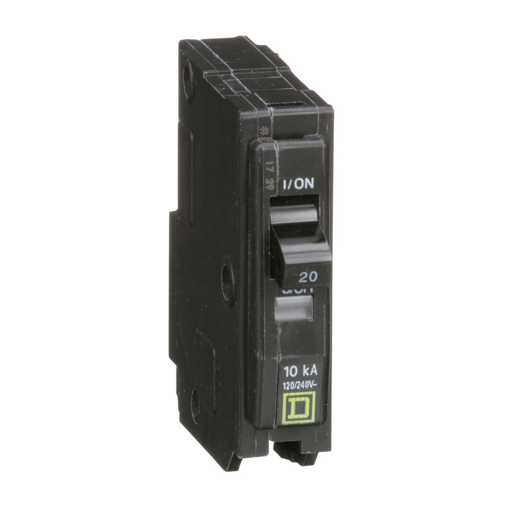 Square D QO120 120/240 Volt 20 Amp Plug-On Miniature Circuit Breaker