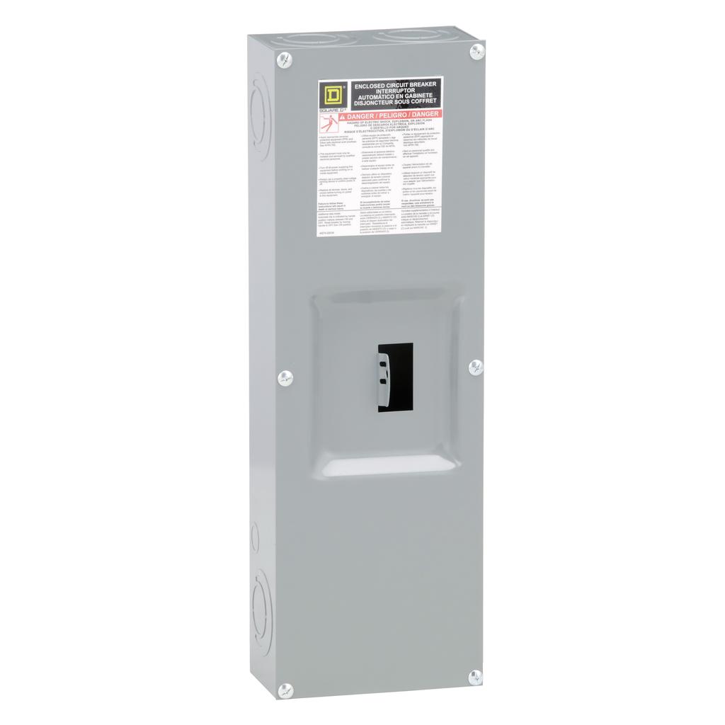Square D Q22200NS 200 Amp 7.63 x 4.25 x 23.13 Inch Steel NEMA 1 Circuit Breaker Enclosure