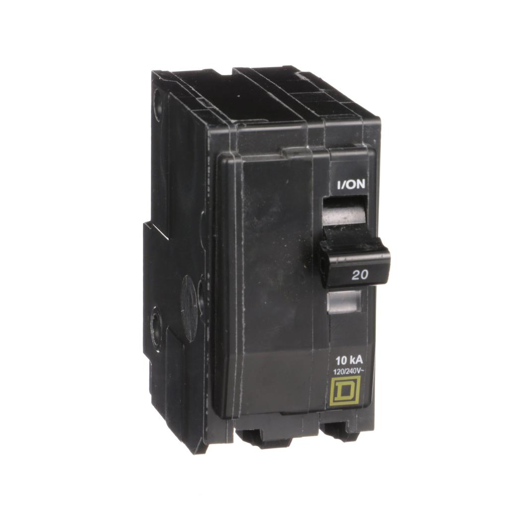 Square D QO220 120/240 Volt 20 Amp Plug-On Miniature Circuit Breaker