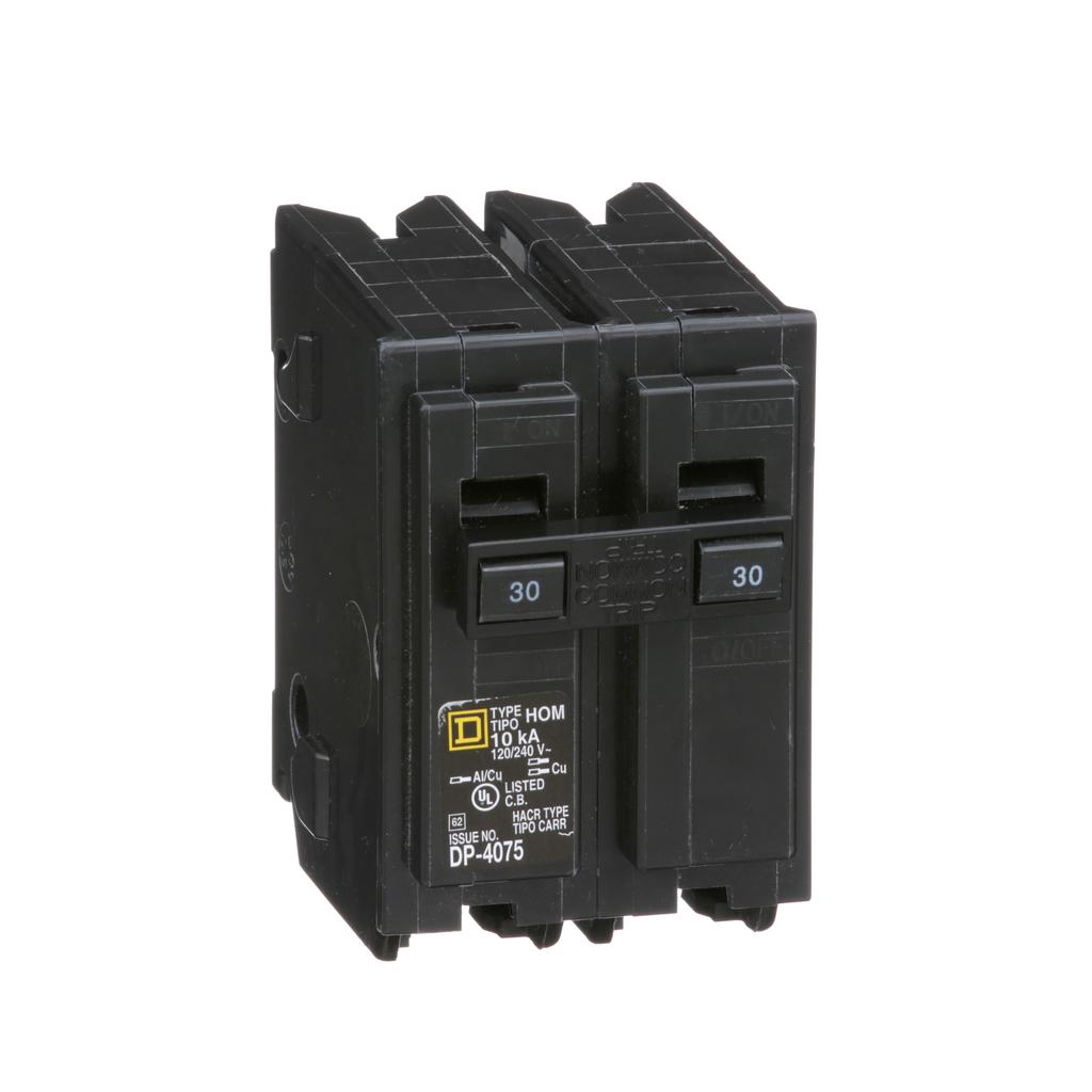 Square D HOM230 120/240 Volt 30 Amp Miniature Circuit Breaker