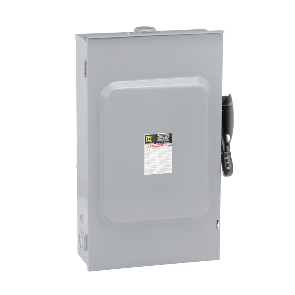 Square-D H224NRB Safety Switch HD 200AMP 240V 3 Wire Solid Neutral Fusible Raintight NEMA-3R Enclosure.(NO SUBSTITUTIONS)