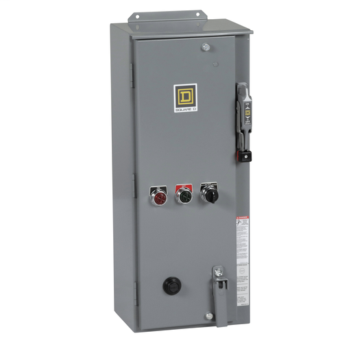 Mayer-Combination Starter, Type S, fusible disconnect, Size 2, 45A, 3 pole, 120VAC coil, melting alloy overload, NEMA 3R/12-1