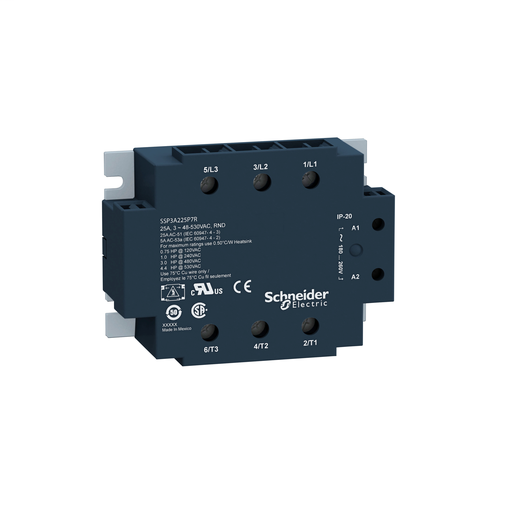 Mayer-Solid state relay, 50 A, panel mounting, input 18…36 V AC, output 48…530 V AC, 3 NO-1