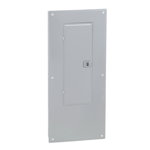 Mayer-Load center, Homeline, 1 phase, 30 spaces, 60 circuits, 225A convertible main lugs, PoN, NEMA1, gnd bar, combo cover-1