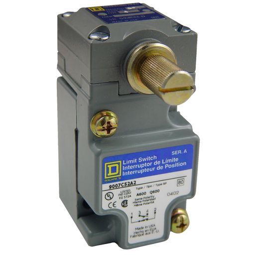 Mayer-9007C compact limit switch - 1 NO/NC - rotary head - CW+CCW - low differential-1