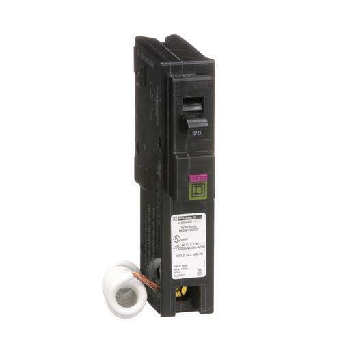 Mayer-Mini circuit breaker, Homeline, 20A, 1 pole, 120 VAC, 10 kA AIR, combo ARC/ground fault, plug in mount-1