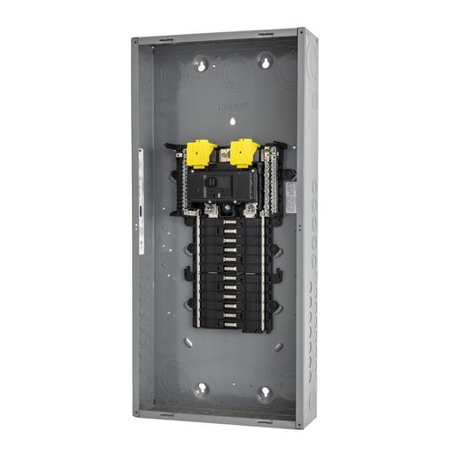 Mayer-Load center, QO, 1 phase, 24 spaces, 34 circuits, 125A convertible main breaker, PoN, NEMA1, UL-1