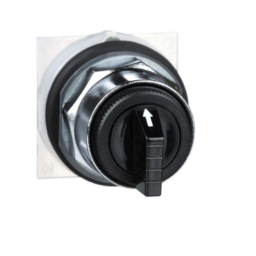 Mayer-30mm Push Button, Type K, selector switch, 3 position, C cam, black knob-1