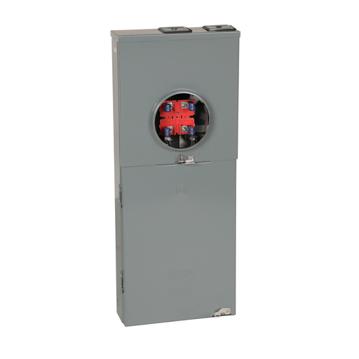 Mayer-Meter mains, QO, combination service entrance, ringless socket, 150A, surface mount, maximum 8 spaces, 16 circuits, no bypass-1