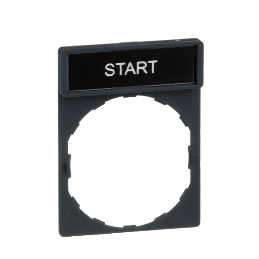Mayer-Harmony, 22mm Push Button, legend holder 30 x 40 mm, with legend 8 x 27 mm, marked START-1
