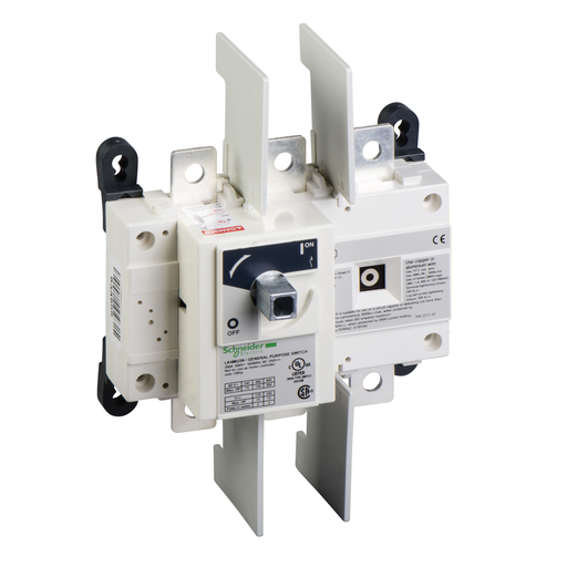 Mayer-Disconnect Switch, TeSys LK, nonfusible, 200A, 600 V, HP rated, 3 pole, rotary handle, up to 200kA SCCR-1