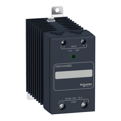 Mayer-Solid state relay - DIN rail mount - input 90-140Vac, output 48-660Vac, 45A-1