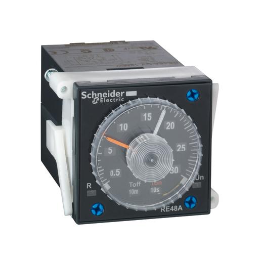Mayer-Modular timing relay, 5 A, 1 CO + 1 CO (instantanenous) , 0.2 s...300 h, time delay, 24...240 V AC/DC-1