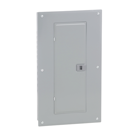 Mayer-Load center, Homeline, 1 phase, 24 spaces, 48 circuits, 125A convertible main lugs, PoN, NEMA1, gnd bar, combo cover-1