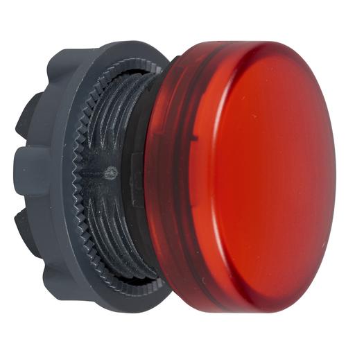 Mayer-Pilot light head, plastic, red, Ø22, plain lens for integral LED-1