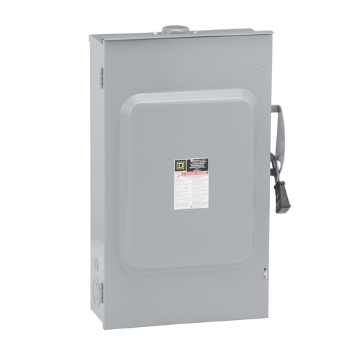Mayer-Safety switch, general duty, non fusible, 200A, 3 poles, 60 hp, 240 VAC, NEMA 3R, bolt-on provision-1