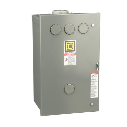 Mayer-8903L electrically held lighting contactor, 10 P, 10 NO, 30 A, 600 V, 277 V 60 Hz coil, NEMA 3R-1
