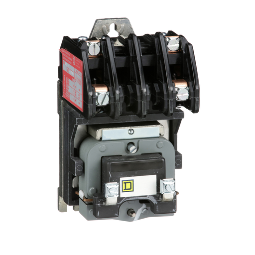 Mayer-8903L electrically held lighting contactor, 2 P, 2 NC, 30 A, 600 V, 24 V 60 Hz coil, open-1