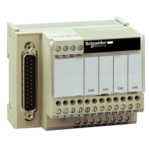 Mayer-Connection sub-base ABE7 - for distribution of 4 analog output channels-1
