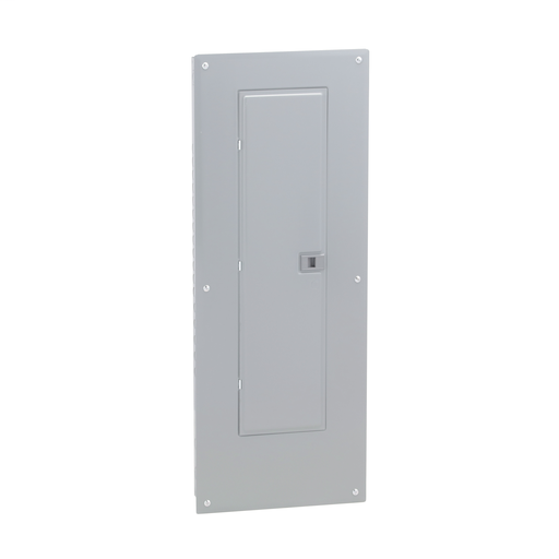 Mayer-Load center, Homeline, 1 phase, 40 spaces, 80 circuits, 200A convertible main breaker, PoN, NEMA1, combo cover-1