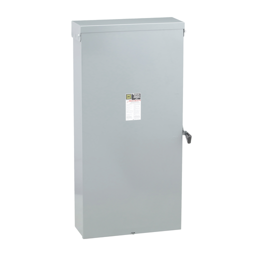 Mayer-Safety switch, general duty, fusible, 600A, 3 poles, 150 hp, 240 VAC, NEMA 3R, neutral factory installed-1