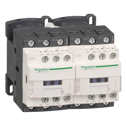 Mayer-TeSys D IEC contactor, 12 A, 3 P, 7.5 HP at 480 VAC, reversing, 120 VAC 50/60 Hz coil-1