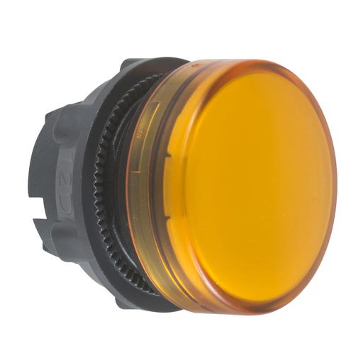 Mayer-Pilot light head, plastic, orange, Ø22, plain lens for integral LED-1