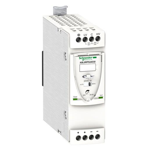Mayer-Universal power supply, Phaseo, 1 or 2 phase, 100 to 500 V, 24 V, 3 A-1