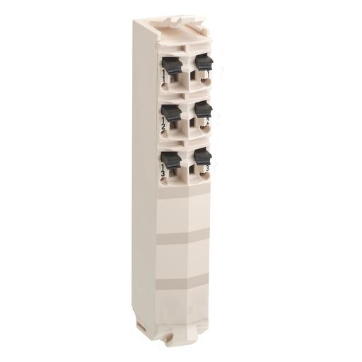 Mayer-Modicon TM5, terminal block, 6 contacts, white, quantity 1-1