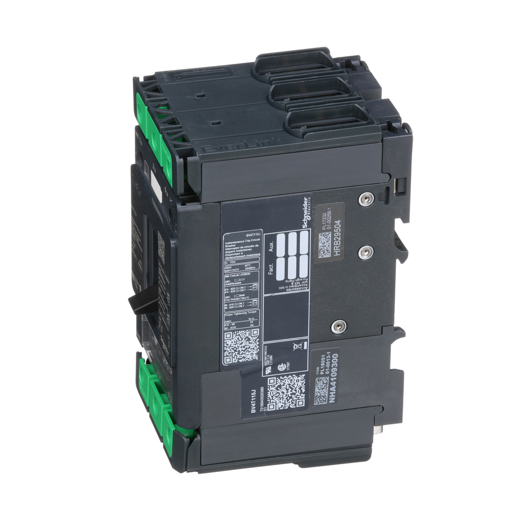 Mayer-Motor Circuit Protector, TeSys BV4, high fault, 115A, 600Y/347 VAC, 600 to 1150 instantaneous trip, up to 100kA SCCR-1