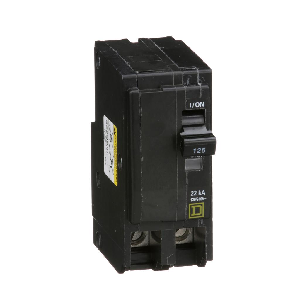 Mayer-Mini circuit breaker, QO, 125A, 2 pole, 120/240 VAC, 22 kA, plug in mount-1