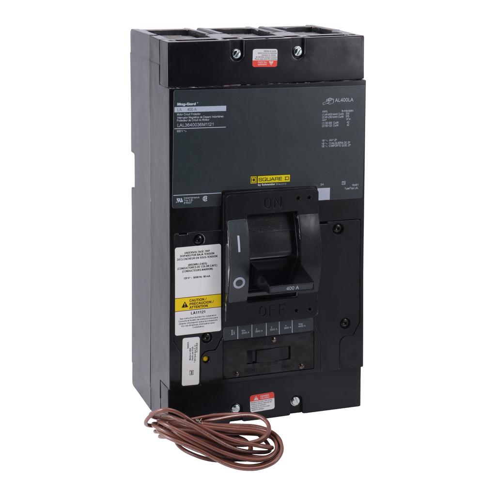 Mayer-Motor circuit protector, LA, LH, Q4, unit mount, 400A, 3 pole, 25 kA, 600 VAC, 50 kA, 250 VDC-1