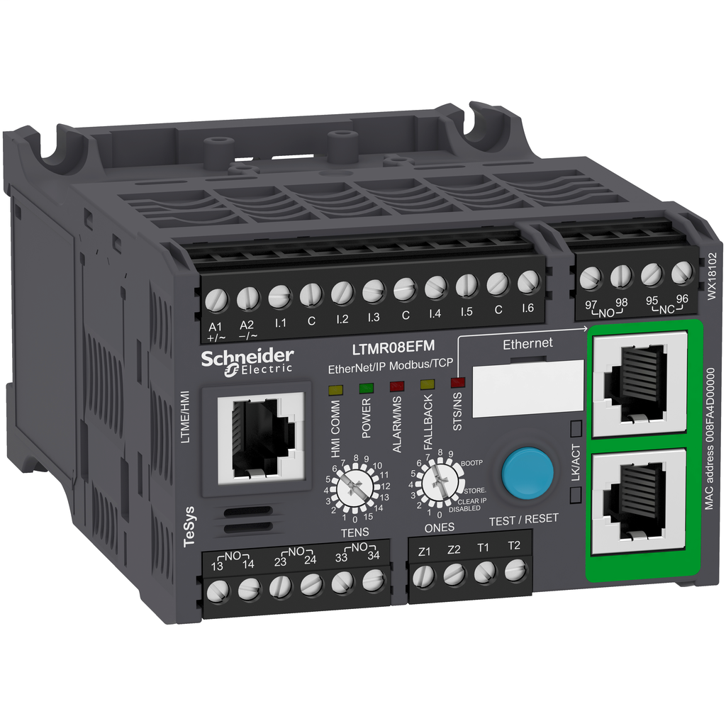 Mayer-Motor Management, TeSys T, motor controller, Ethernet/IP, Modbus/TCP, 6 inputs, 3 outputs, 0.4 to 8A, 100 to 240 VAC-1