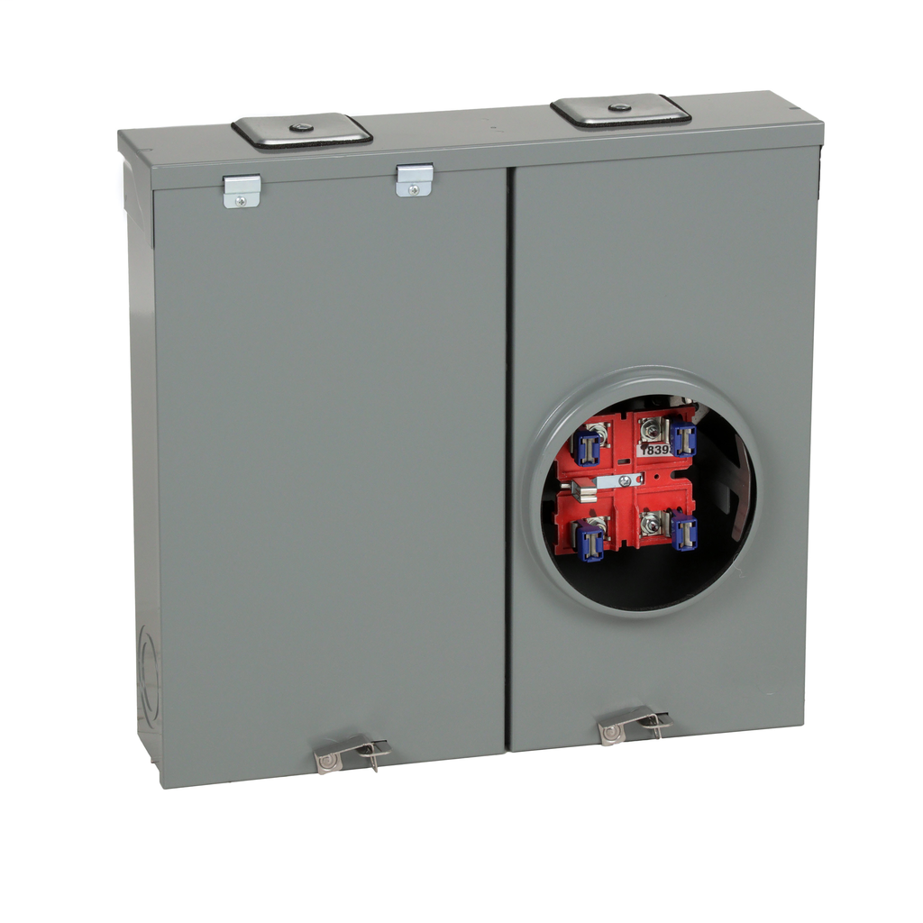 Mayer-Meter mains, QO, combination service entrance, ringless socket, 200A, surface mount, no bypass-1