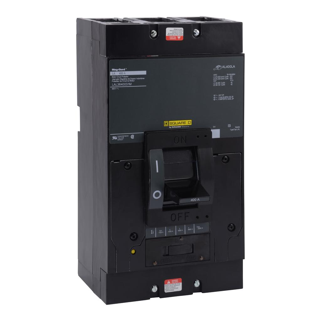 Mayer-Motor circuit protector, LA, LH, Q4, unit mount, 400A, 3 pole, 22 kA, 600 VAC, 10 kA, 250 VDC-1