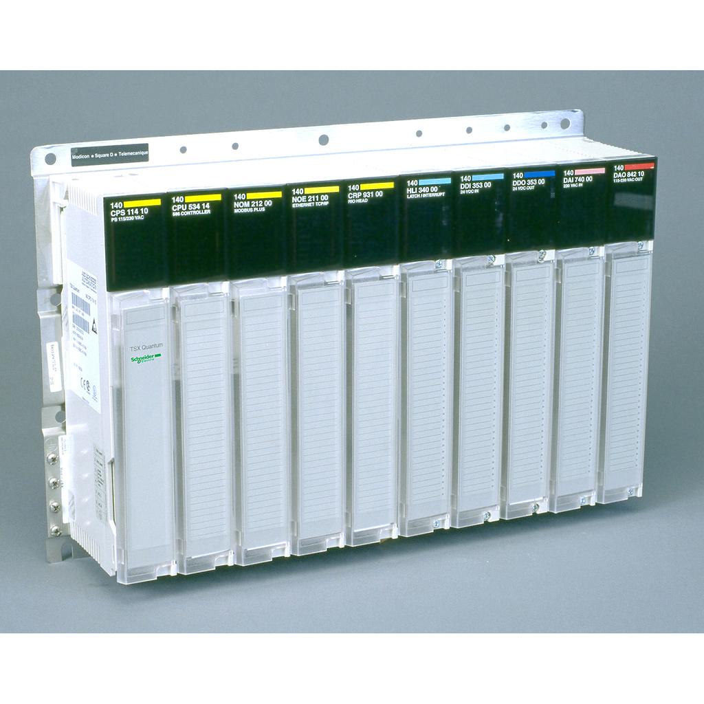 Mayer-Modicon Quantum - racks backplane - 10 free slots - for I/O modules-1