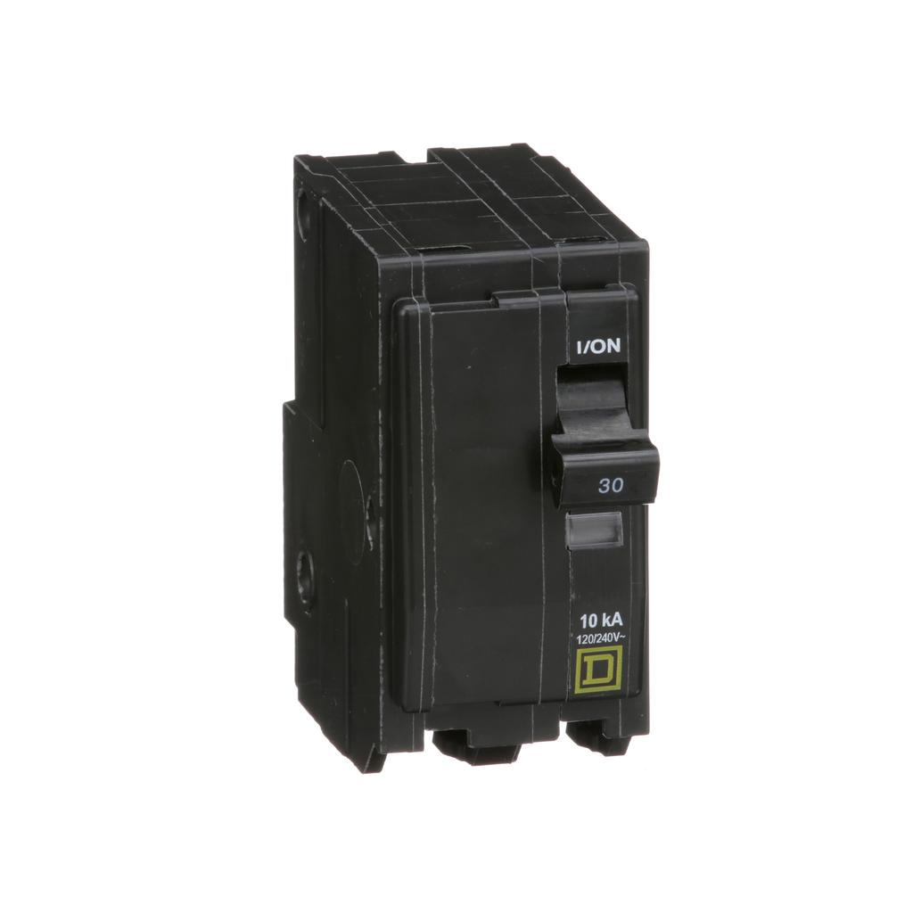 Mayer-Mini circuit breaker, QO, 30A, 2 pole, 120/240 VAC, 10 kA, plug in mount-1