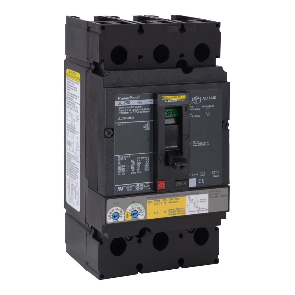 Mayer-Motor circuit protector, PowerPacT J, 250A, 3 pole 50 kA, 600 VAC-1