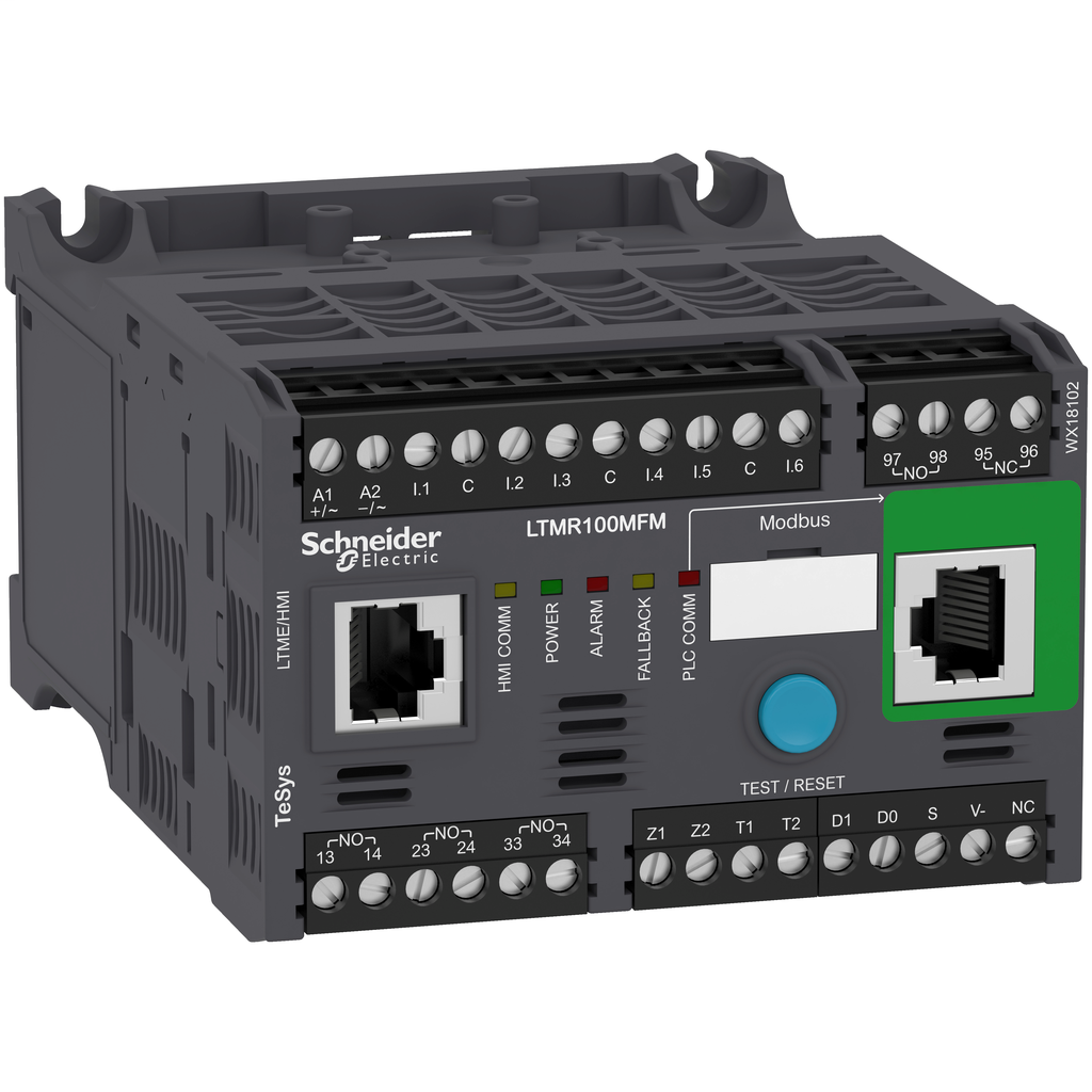 Mayer-Motor Management, TeSys T, motor controller, Modbus, 6 logic inputs, 3 logic outputs, 5 to 100A, 100 to 240 VAC-1
